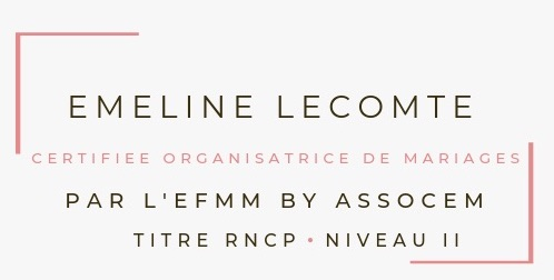 Certification Emeline Lecomte Wedding Planner